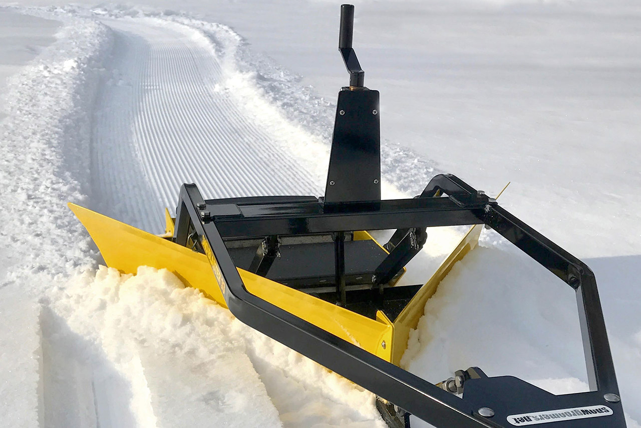 Sno blaster gets rid of excess snow.
