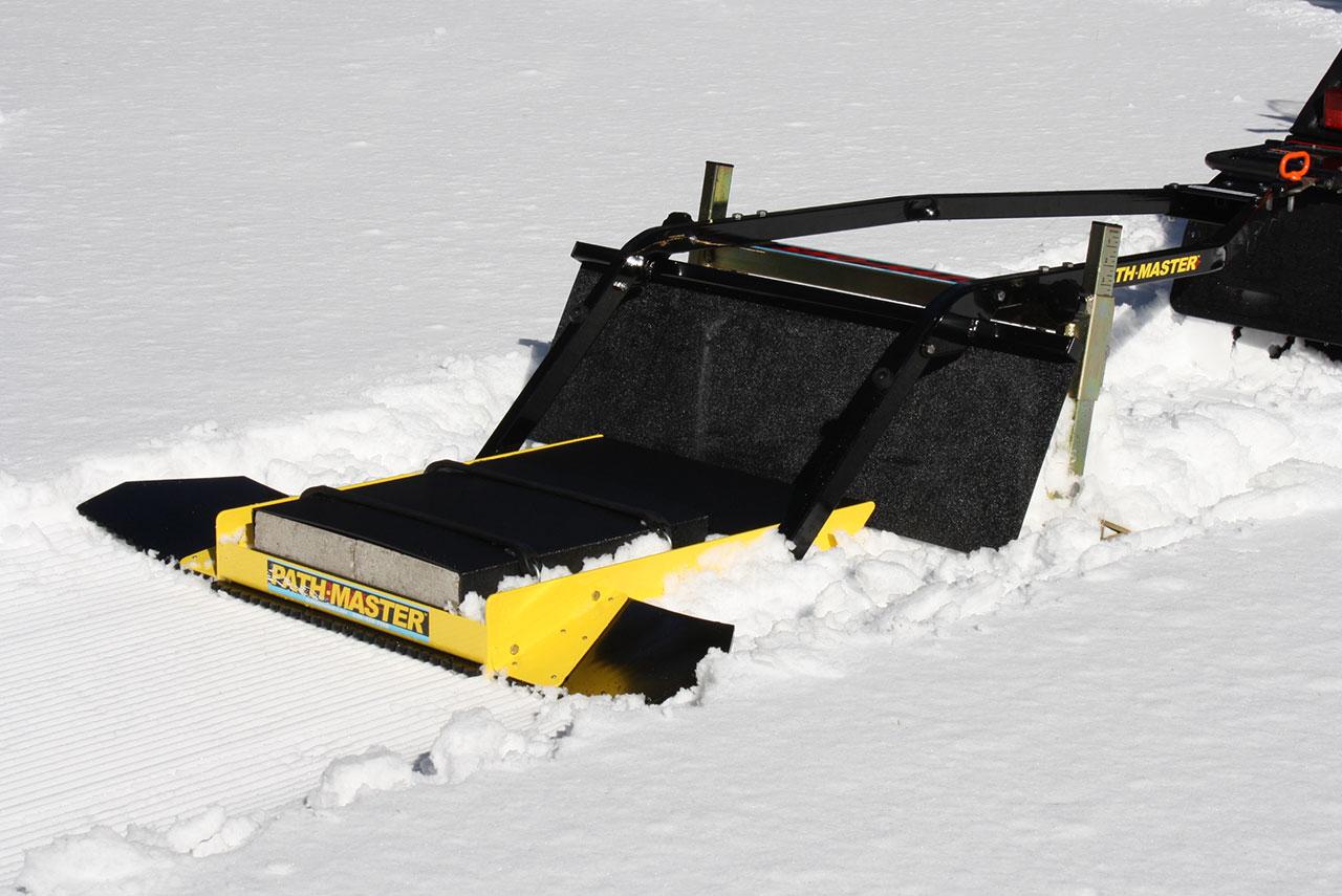 tiny trail snow groomer